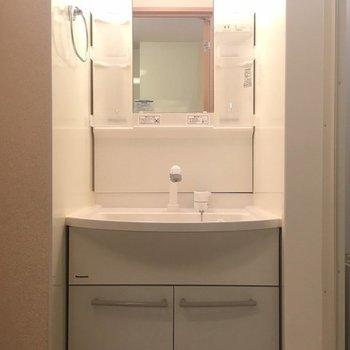 独立洗面台は大きめです。 ※写真は同間取り別部屋