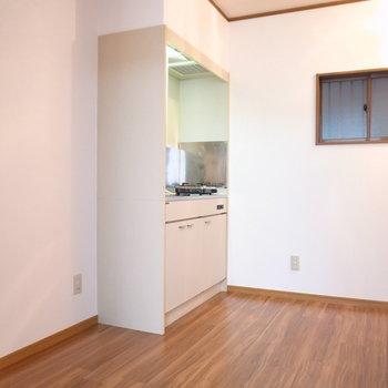 キッチンがすごくゆったりしています。工夫次第で使いやすくなる!