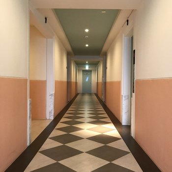 共用廊下も素敵・・・