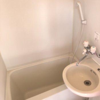 お風呂と洗面台は小さめ