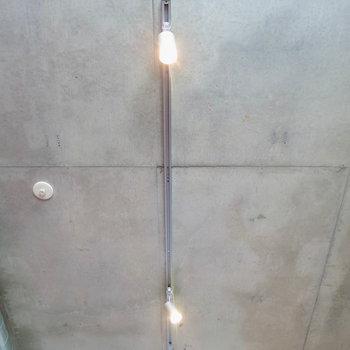 ライティングレールで自分好みの照明に(※写真は3階の同間取り別部屋のものです)