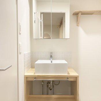 洗面台のタイルもかわいくないですか?