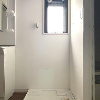 洗濯パンは脱衣所に。空気の入れ替えでしっかり換気♪
