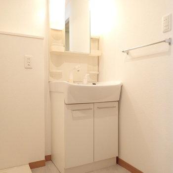 洗面台はもちろん完備。