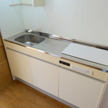 洗い場は小さいけど2口で、スペースもあります◎