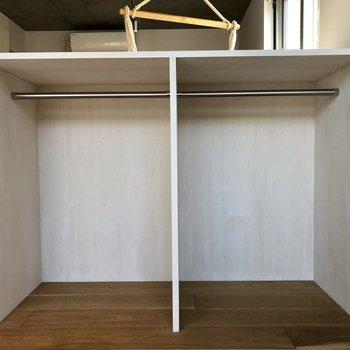 背が低めのオープン収納