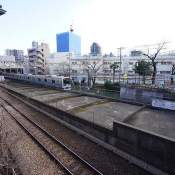 線路の目の前なんです。