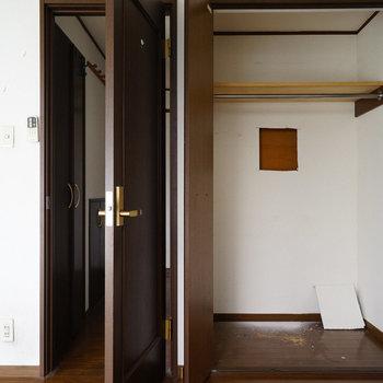 【工事前】1階寝室、収納。