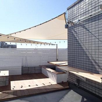 そして屋上は居住者限定の共有スペース! ※写真は前回募集時のものです