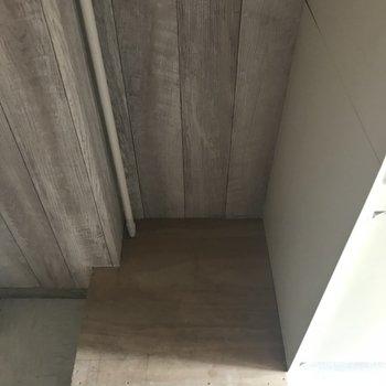 玄関にあるこのスペース、何に使うのだろうか。