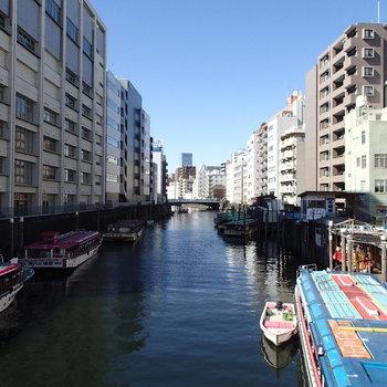 こちらは近くの浅草橋。水辺があるのいいですね。