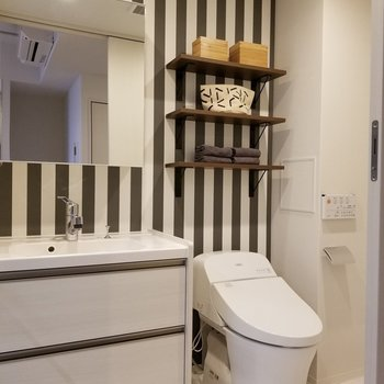洗面台とトイレは同室に※写真はモデルルーム