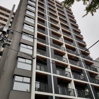 上野にそびえる新築マンション