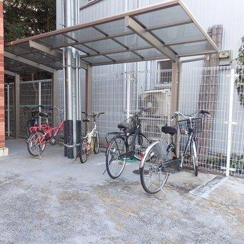 駐輪場もあるので、自転車、買っちゃいましょう!!