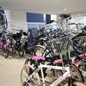 自転車、バイクをおくことができます!この周辺は、自転車があると便利です。