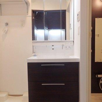 洗面だもお部屋の雰囲気に合わせたデザイン。