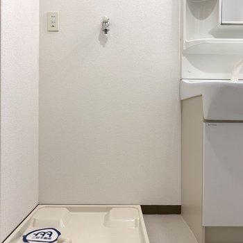 洗濯パンは脱衣所です(※写真は8階の同間取り別部屋のものです)
