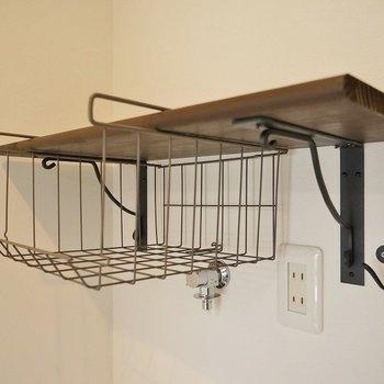 洗剤なんかもこんな可愛い棚に収納できちゃう♪