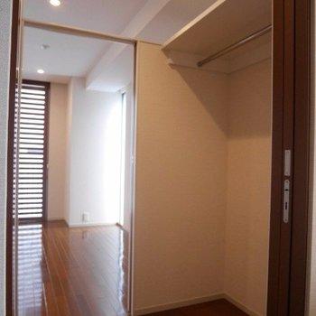 リビングと洗面所の間に収納※写真は別部屋です