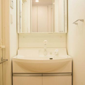 大きな洗面台です ※写真は別部屋です。