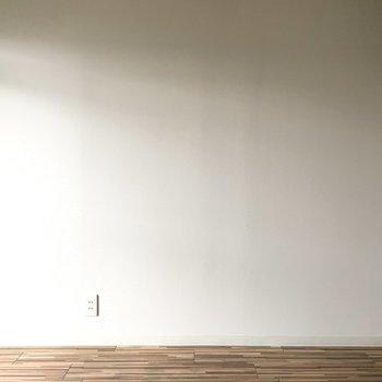 こっちは真っ白の壁。