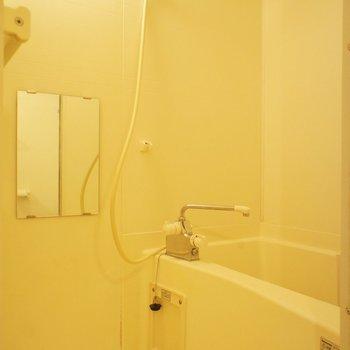 お風呂も小さめ※写真は別部屋です