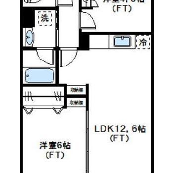 3つもお部屋があって、贅沢な間取り。