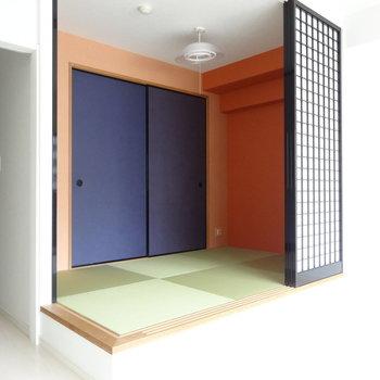 琉球畳っておしゃれよね。※写真は別室です。
