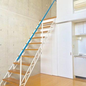 階段の手すりがポイントにっ
