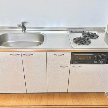 キッチンは2口ガスコンロで使いやすそうねぃ
