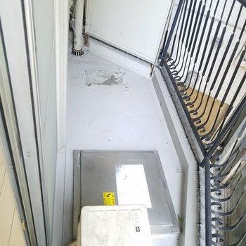 バルコニーに洗濯機を。※写真は前回募集時のものです