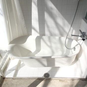 こんなに光の入るお風呂なかなかない。