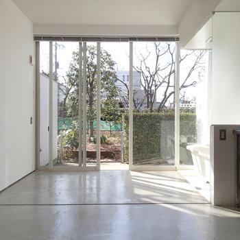 一面窓!お庭の先に栗林が望めます。