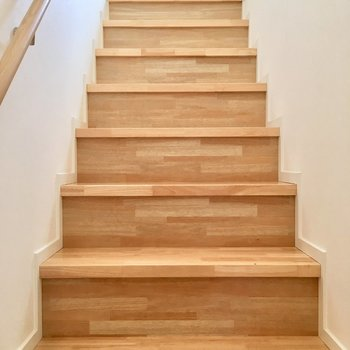 こちらの木の階段をのぼりましょう。※写真は前回募集時のものです