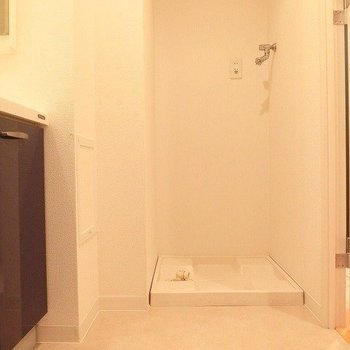 脱衣所はこんな広さ。※写真は別部屋です。