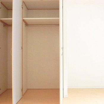 ハンガー掛けのある収納です。※写真は別部屋です。