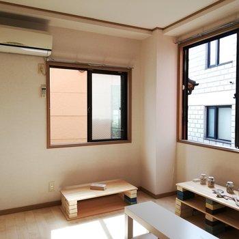 【6帖洋室】2面採光で明るく※写真は通電前のものです