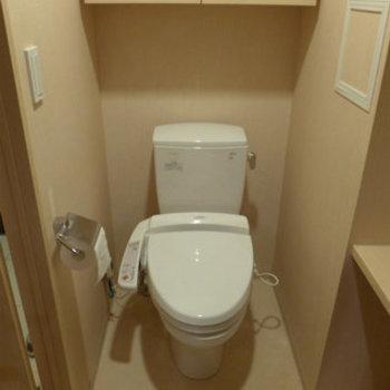 トイレにはウォシュレット付き。これまた嬉しい!*写真は別のお部屋です。