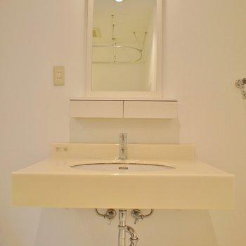 大きめの洗面台が嬉しいですね