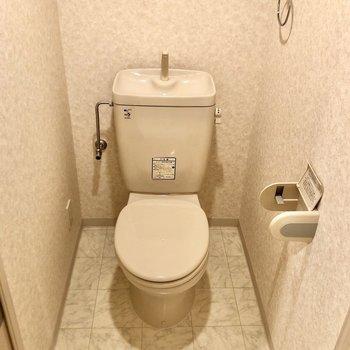トイレはマットやカバーを持ち込みましょう。