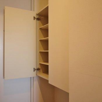 大き目のシューズボックス!下のスペースも活用してね!※写真は別室です。