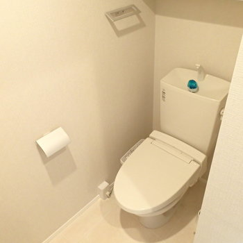 トイレは上の住居の階段下スペースにありました。