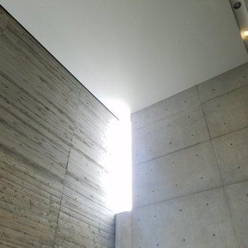上を見上げると、まるで光の教会!