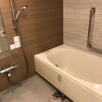 広い浴室って嬉しいですね。