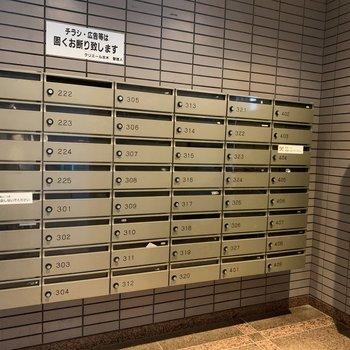 メールボックスは一箇所にまとまっています。