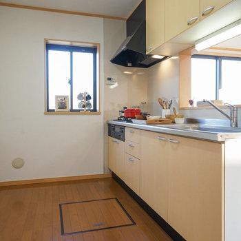 こんなに広いキッチン!
