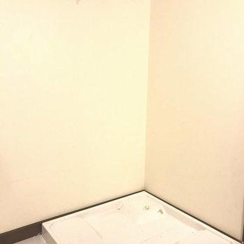 洗濯パンはキッチンの後ろです。※写真は別室です。