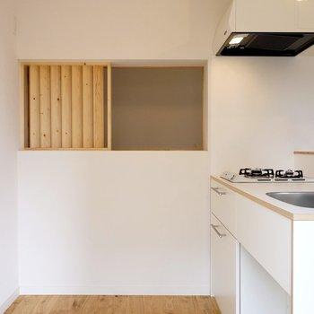 ルーバーと小窓がなんとも可愛らしい! ※写真は前回工事の505号室です。