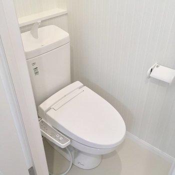 モチロントイレも個室です