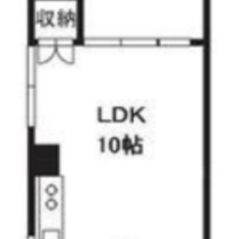 1LDKのお部屋です。 ※間取りは同じタイプの左右反転となっております。